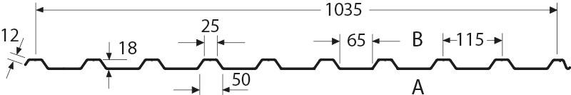 Bekannt Trapezblech 20/115 - Hoffmann Trapezbleche YD73